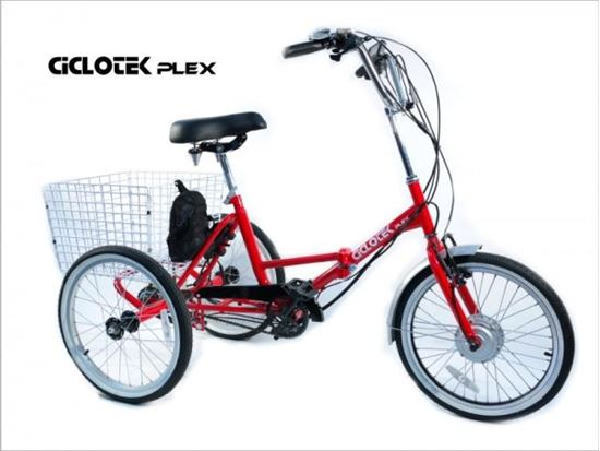 Imagen de Triciclo eléctrico plegable  Ciclotek Plex Rojo